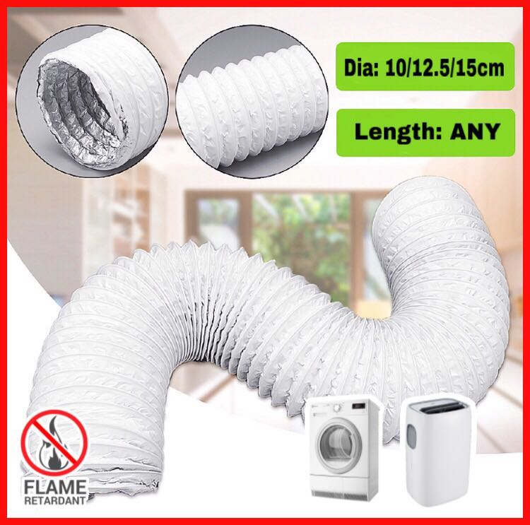 PVC hose for portable aircon/dryer/kitchen hood!  Hose/duct/pipe/ducting/vent/ac/aircooler