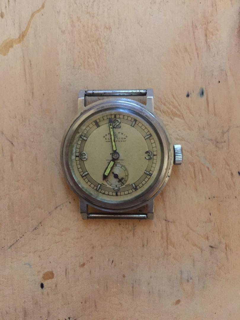 Rare Vintage Election Grand Prix Berne 1914 Automatic Watch circa approx 1930-40