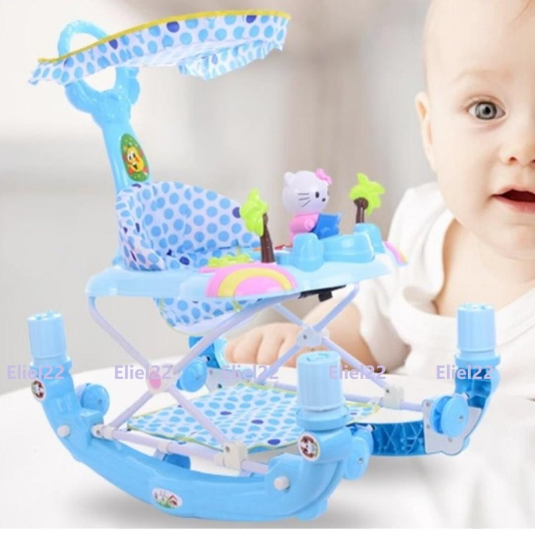 Ready Stock - Multi-functional 3-in-1 Baby Walker Rocker cum Feeding Chair