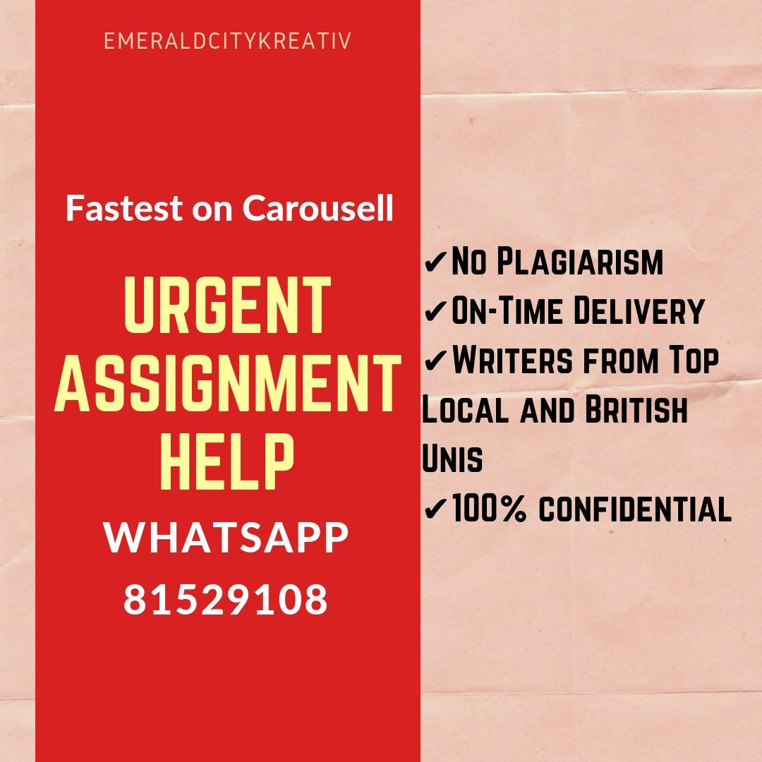 Rush Assignment ⌛24/7 Essay Writing Service