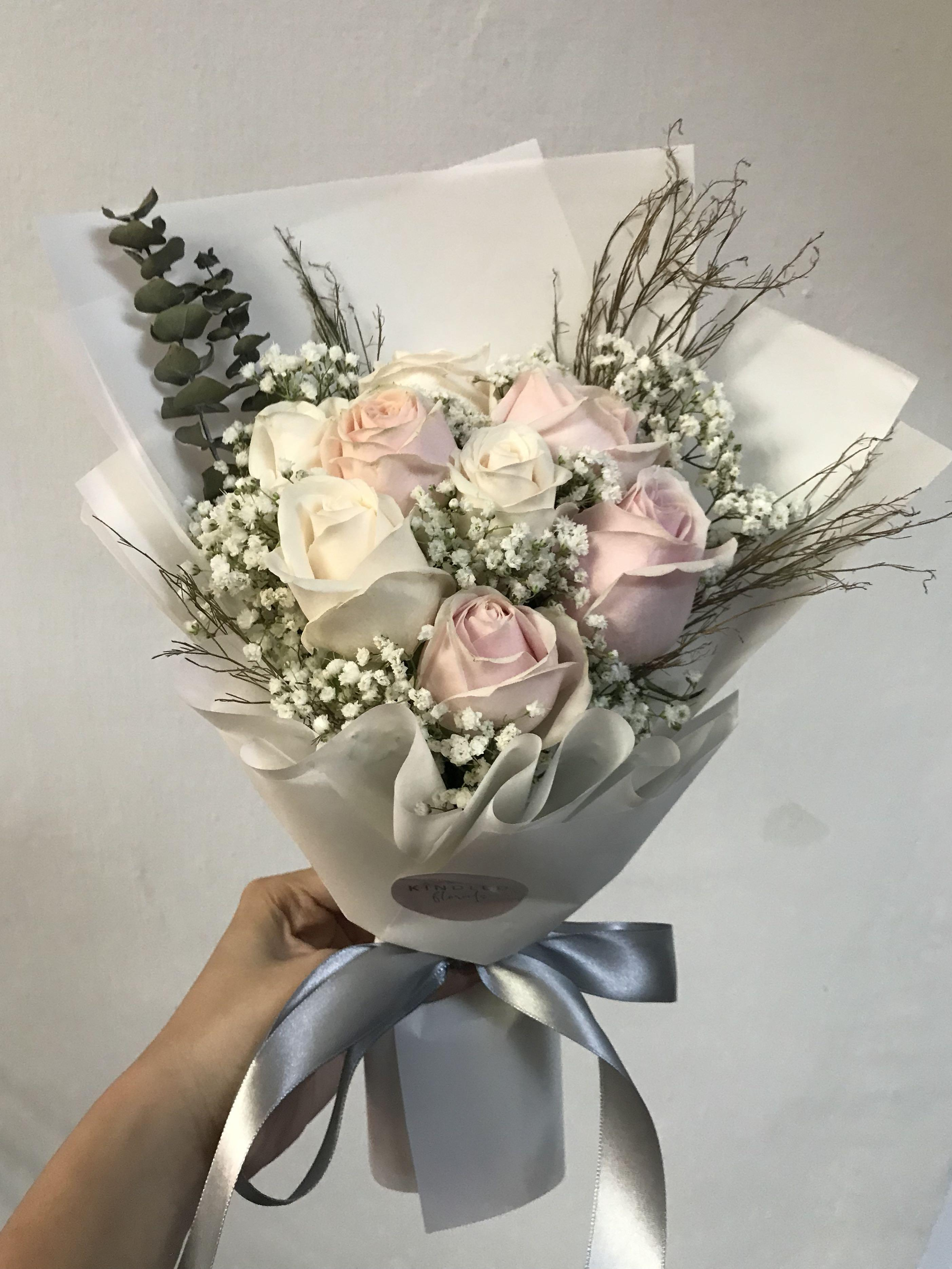 Rustic White And Pink Bouquet Gardening Flowers Bouquets On Carousell