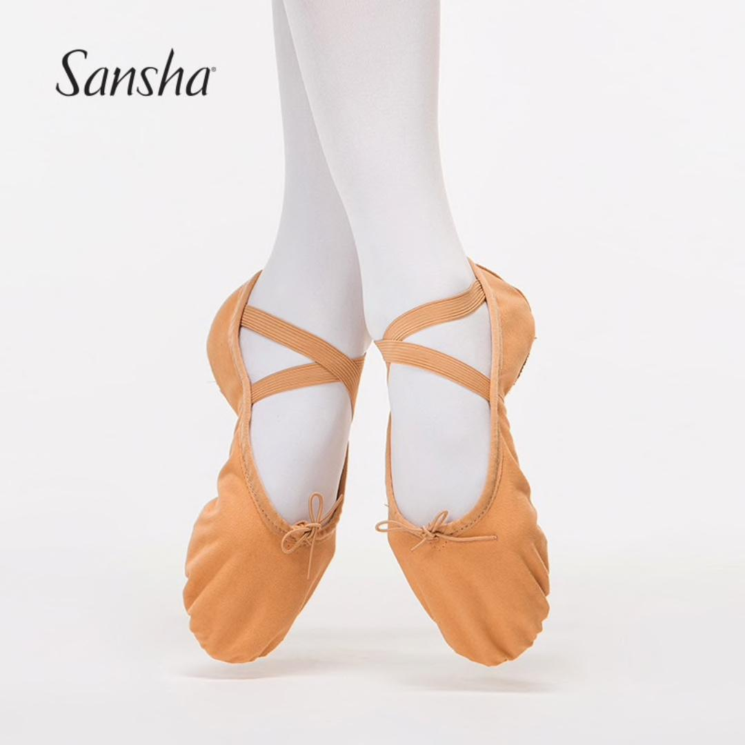 Sansha 8C Entrechat Adult Women's Ballet Slippers with split leather sole