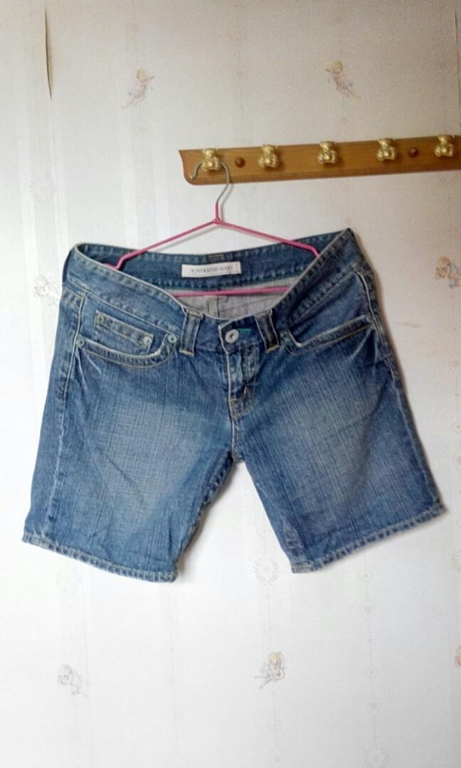 Denim shorts低腰短牛仔褲