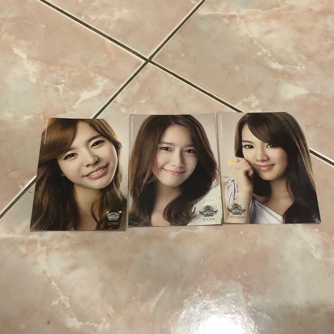 Snsd girls generation yoona sunny hyoyeon smtown postcard korea kpop
