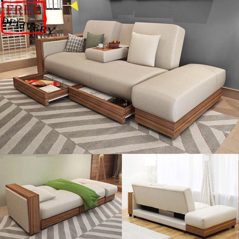 Sofa Sofa Bed Cloth Sofa Storage Sofa Type F Black Brown Furniture