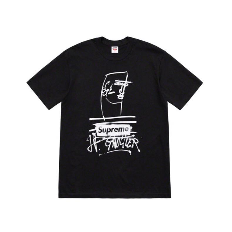 Supreme Jean Paul Gaultier Tee Black M