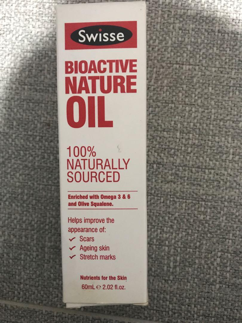 Swisse bio active nature oil improve scars aging stretch marks