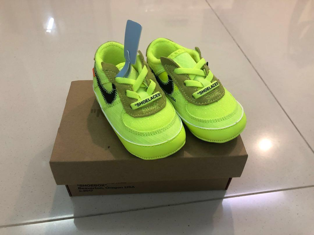 factory price 81862 eda55 The 10: Off White x Nike Air Force 1 Volt Infant, Babies ...