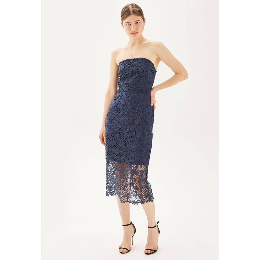 Topshop Blue Lace Dress
