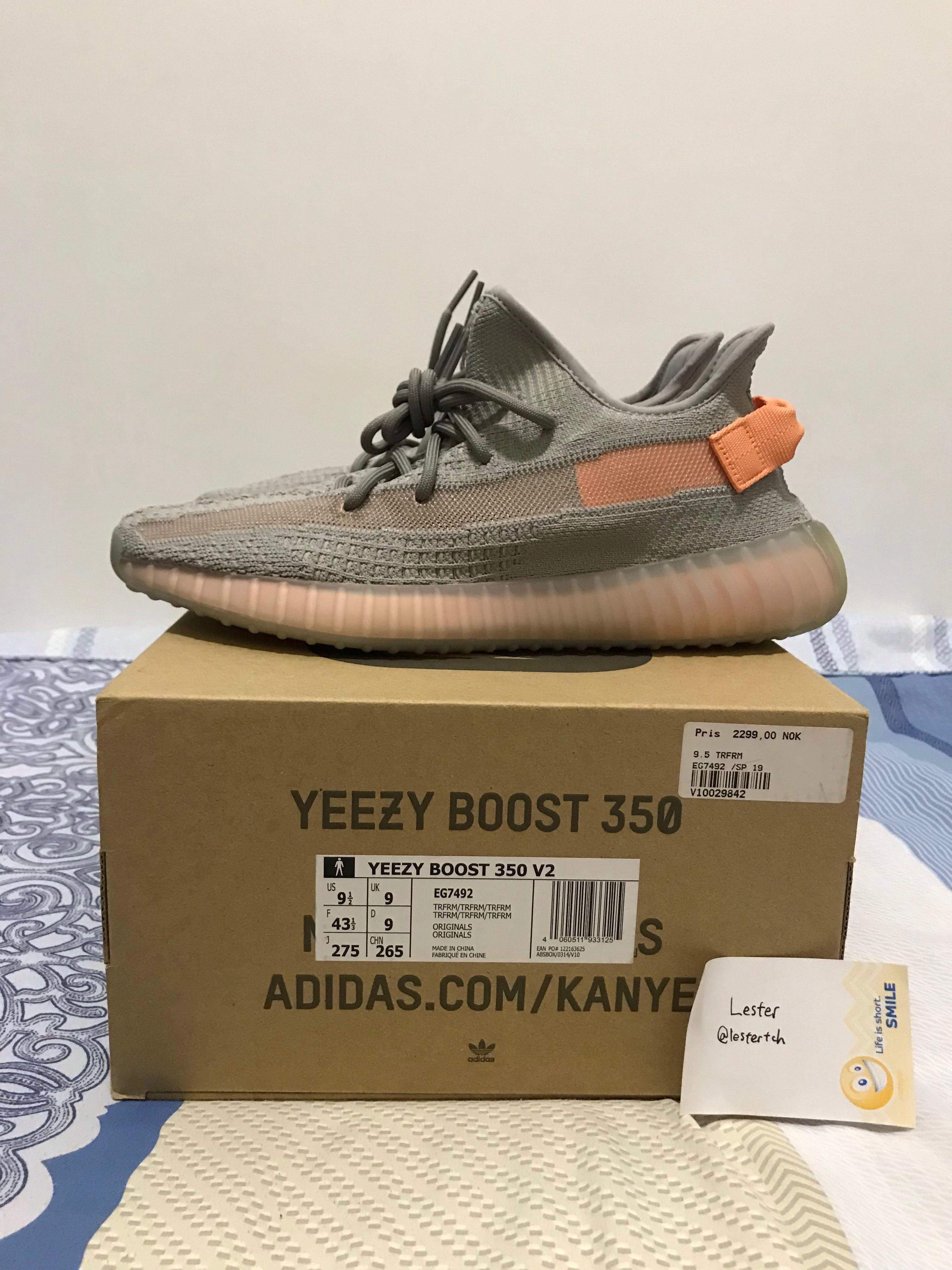 8011737be87f1 US9.5 Yeezy Boost 350v2 True Form