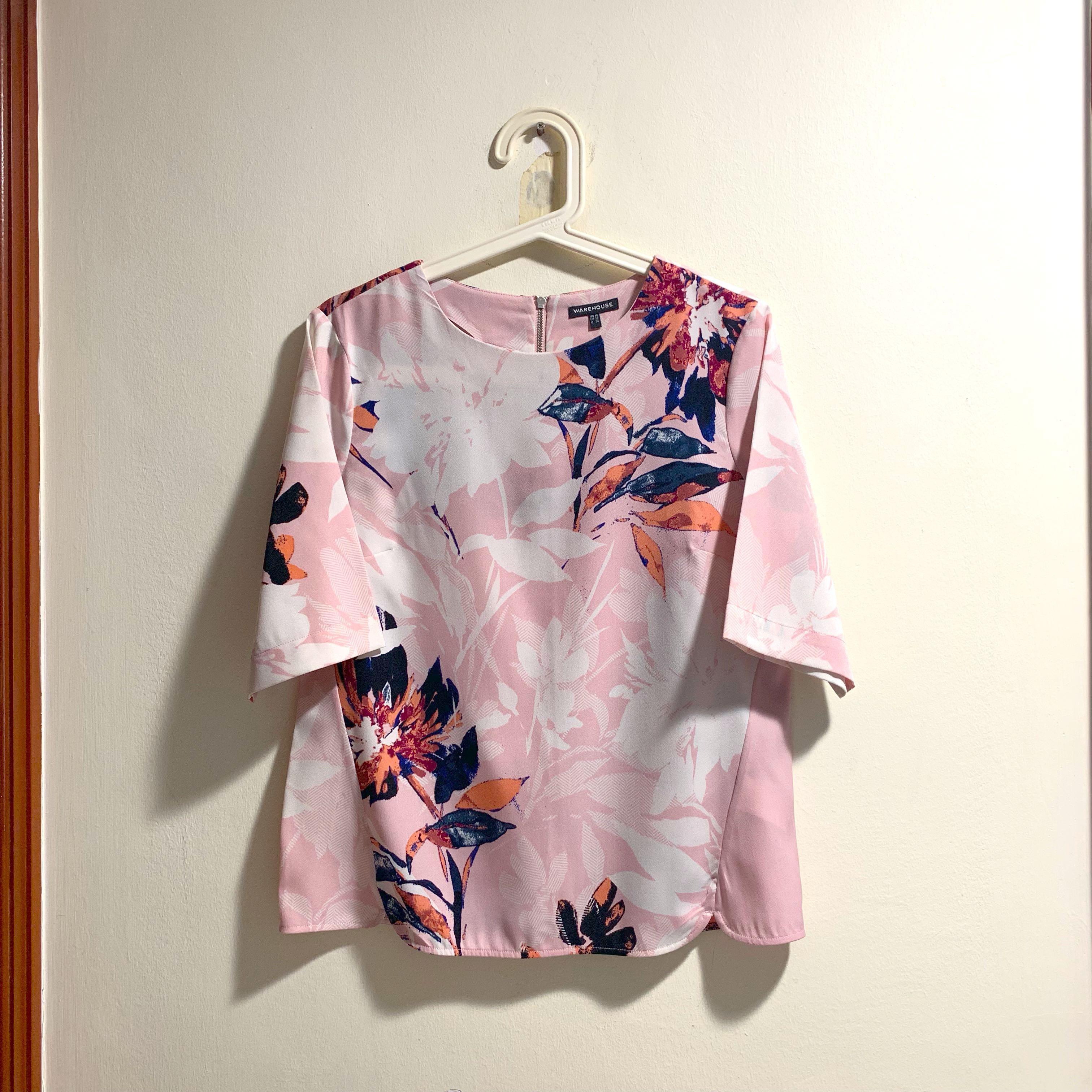 de892cb65 Warehouse floral kimono top, Women's Fashion, Clothes, Tops on Carousell