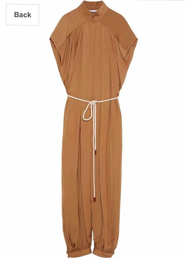 Zara loose fitting belted jumpsuit original