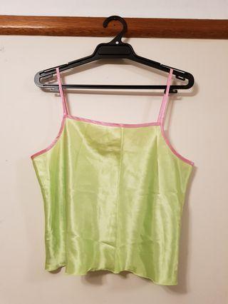 Green Silky Top