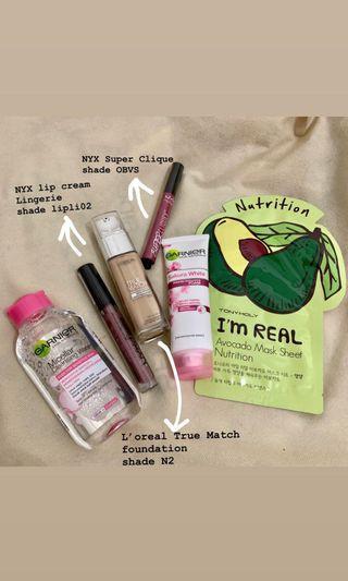 super cheap!! take all ! skincare and makeup regimen