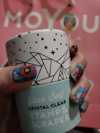 moyou london crystal clear stamp & scraper