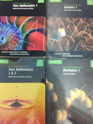 Pure Mathematics Statistics Mechanics Cambridge A LEVEL Coursebook