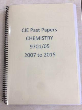 CIE Alevels Chemistry Past year paper A2 Paper 5