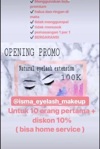 Promo eyelash extension