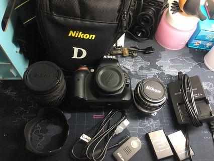 🚚 Nikon D5200兩個鏡頭加18-200mm&50mm f.1.4