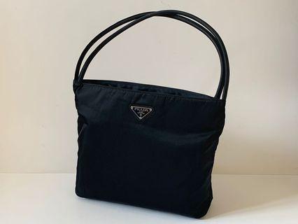 Authentic Prada Black Nylon Shoulder Bag
