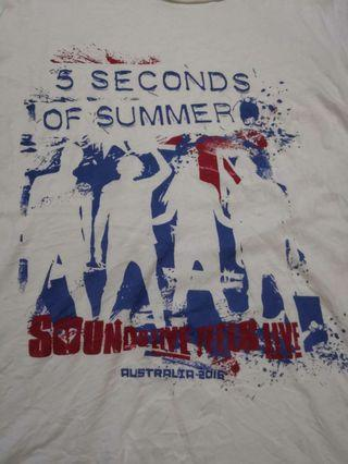 T-shirt band 5 second of summer