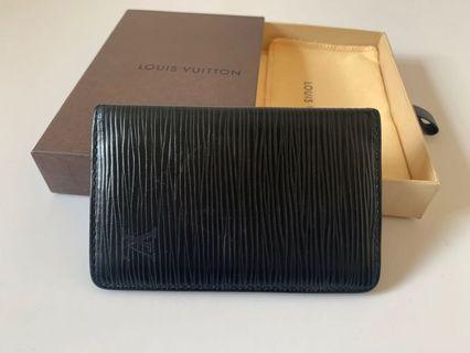 Authentic Louis Vuitton Black Epi Card Holder