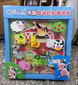 🚚 木製玩具 木製農場認知學習組 wooden toys -全新