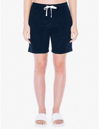 H&M Knit Black Jogger Sweat Shorts with White Drawstring Tie
