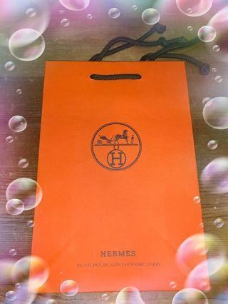 Hermes艾瑪仕 專櫃紙袋(小)