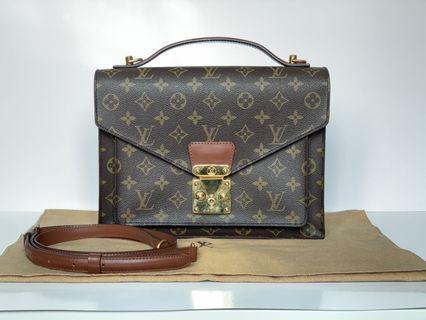 Authentic Louis Vuitton Monogram Monceau Bag
