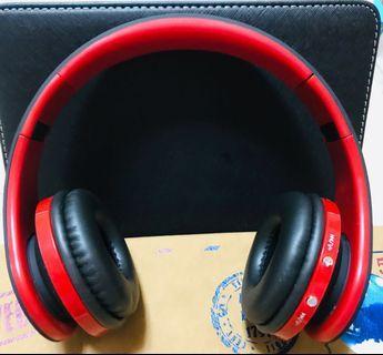 🚚 無線頭戴式耳機/黑紅色/Wireless Headphones/Black + red