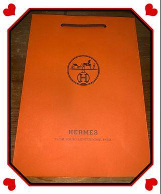 Hermes 艾瑪仕 專櫃紙袋(中)