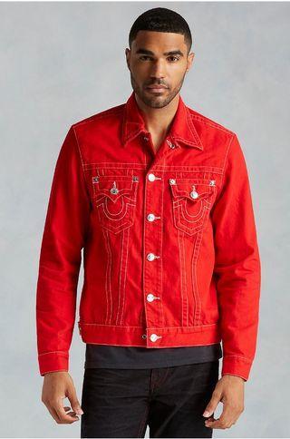 Tru Religon Red Denim Jacket