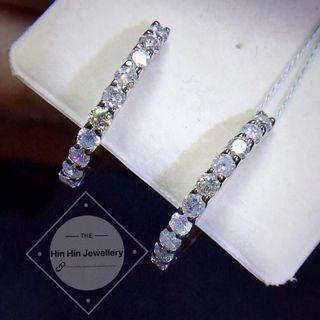💎經典款,閃亮✨大鑽鑽石耳環,鑽石D1.0克拉 PT900,重約5.1克,整體尺寸18mm,價格4680不議價秒殺