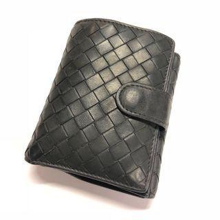 🚚 Bottega Veneta Intrecciato Leather Wallet Grey