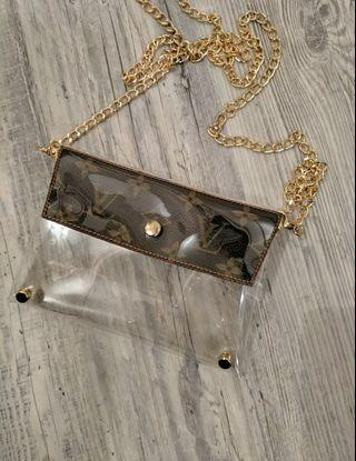 UPCYCLED LOUIS VUITTON CHAIN PURSE