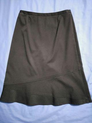 A-line brown skirt