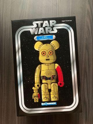 Star wars cp3o Bearbrick 400% + 100%
