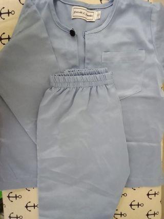 Baju Melayu Baby Baby Blue