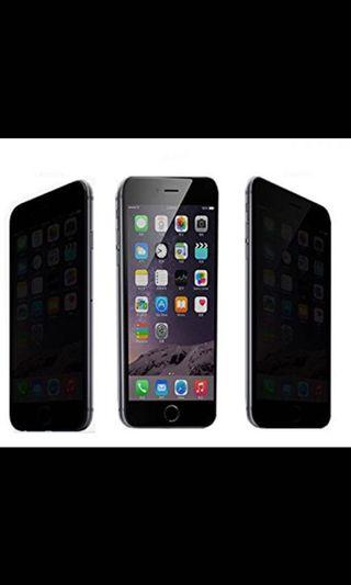 Anti spy tempered glass screen protector for iPhone 6plus