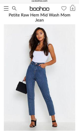 Boohoo mom jeans