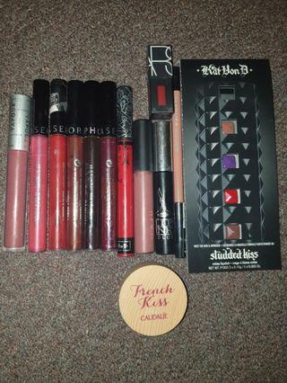 12x Lipstick Bundle 💄Kat Von D Sephora Caudalie Tarte Vapour