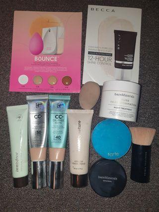 11x Foundation Primer Sponge Brush Bundle🌺 IT Cosmetics CC Bare Minerals Innisfree Tarte Tenth Becca Beauty Blender