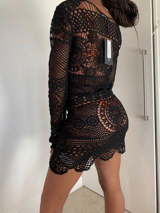 Knitted black dress