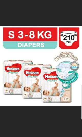 🚚 NEW Huggies Platinum Tape S Size - 3 packets