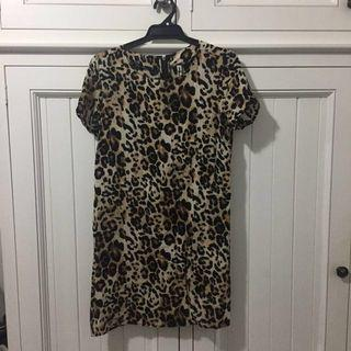 All About Eve Size M Leopard Print Dress.