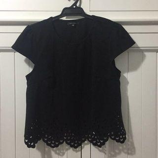 Portmans Size M Black Top / Tshirt