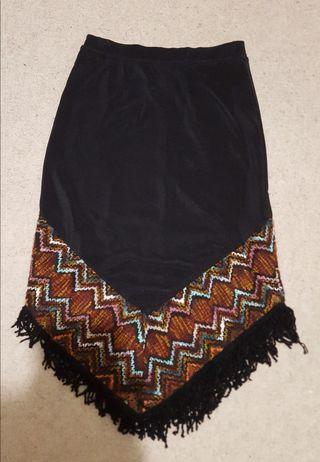Stylish black long skirt