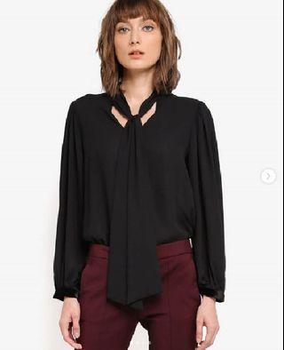 MANGO OUTLET Tie-neck blouse