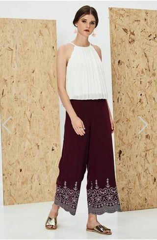 TCL Enye Embroidered Pants